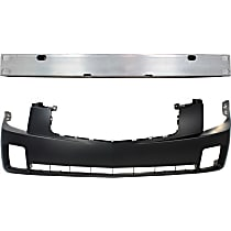 Replacement Bumper Reinforcement and Bumper Cover Kit - OE Replacement, Aluminum