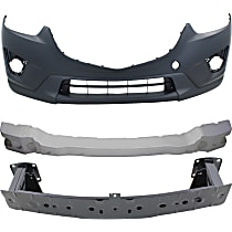 Replacement Bumper Reinforcement, Bumper Absorber and Bumper Cover Kit - OE Replacement