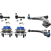 Control Arm, Wheel Hub and Tie Rod End Kit