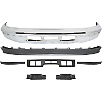 Bumper Bracket - Front, Driver and Passenger Side, with Bumper, Valance, and Right, Left and Center Bumper Trim