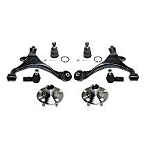 Ball Joint, Control Arm, Tie Rod End and Wheel Hub Kit