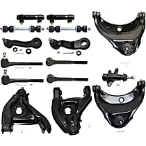Pitman Arm - with Idler Arm, Idler Arm Bracket, Front Sway Bar Links, Front Upper and Lower Control Arms, Front Inner and Outer Tie Rod Ends, and Tie Rod Adjusting Sleeves