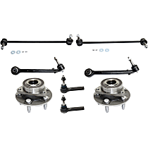 Control Arm, Sway Bar Link, Tie Rod End and Wheel Hub Kit