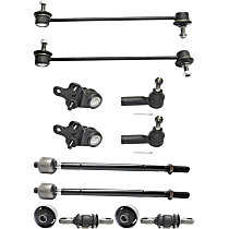 Control Arm Bushing, Tie Rod End, Ball Joint and Sway Bar Link Kit