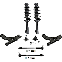 OE Replacement Front, Driver and Passenger Side Loaded Strut - Set of 8