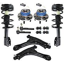 Control Arm, Shock Absorber and Strut Assembly, Tie Rod End, Sway Bar Link and Wheel Hub Kit