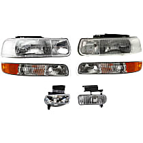 Replacement Parking Light, Fog Light and Headlight Kit - Driver and Passenger Side, Direct Fit, DOT/SAE Compliant