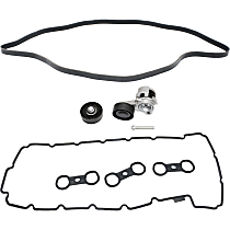 Replacement Timing Belt Idler Pulley, Valve Cover Gasket, Timing Belt Tensioner and Drive Belt Kit