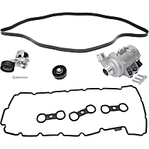 Replacement Timing Belt Idler Pulley, Valve Cover Gasket, Water Pump, Timing Belt Tensioner and Drive Belt Kit