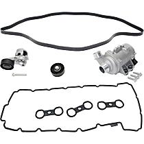 Drive Belt, Timing Belt Idler Pulley, Timing Belt Tensioner, Valve Cover Gasket and Water Pump Kit