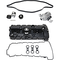 Replacement Valve Cover, Water Pump, Timing Belt Idler Pulley, Timing Belt Tensioner and Drive Belt Kit