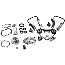 Replacement Timing Chain Kit, Timing Cover Gasket, Water Pump and Oil Pump Kit