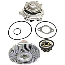 Cooling System Service Kit, Water Pump, Thermostat and Fan Clutch Kit