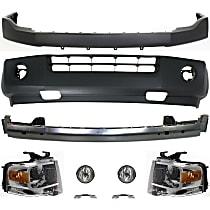 Bumper Cover, Headlight, Fog Light, Bumper Reinforcement and Bumper Bracket Kit