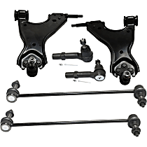 Replacement Control Arm, Tie Rod End and Sway Bar Link Kit