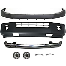 Replacement Bumper Cover, Fog Light, Bumper Reinforcement and Bumper Bracket Kit