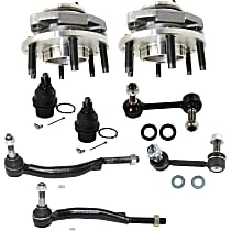 Ball Joint, Sway Bar Link, Tie Rod End and Wheel Hub Kit