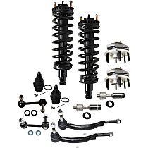 Ball Joint, Loaded Strut, Sway Bar Link, Wheel Hub and Tie Rod End Kit