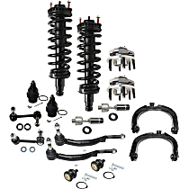 Control Arm, Loaded Strut, Sway Bar Link, Wheel Hub, Ball Joint and Tie Rod End Kit