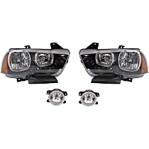 Headlights - Driver and Passenger Side, Kit, Halogen, With Bulb(s), With Fog Lights