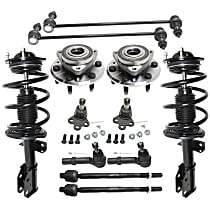 Shock Absorber and Strut Assembly, Tie Rod End, Ball Joint, Wheel Hub and Sway Bar Link Kit