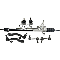 Replacement Steering Rack, Tie Rod End, Ball Joint and Sway Bar Link Kit