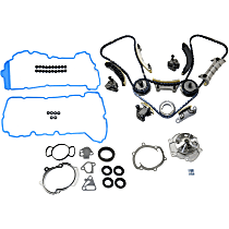 Replacement Timing Cover Gasket, Timing Chain Kit, Valve Cover Gasket and Water Pump Kit