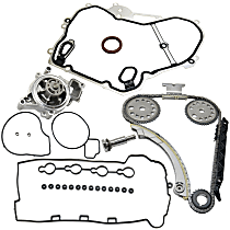 Replacement Timing Cover Gasket, Valve Cover Gasket, Water Pump and Timing Chain Kit