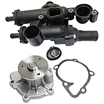Replacement Thermostat Housing and Water Pump Kit