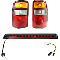 Tail Light - Driver and Passenger Side, Lens and Housing, with High-Mount Stop Lamp (For Models with Dual Swing-Type Doors)