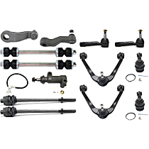 Replacement Idler Arm, Ball Joint, Control Arm, Tie Rod End, Idler Arm Bracket, Sway Bar Link and Pitman Arm Kit