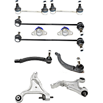 Replacement Control Arm, Tie Rod End, Ball Joint and Sway Bar Link Kit