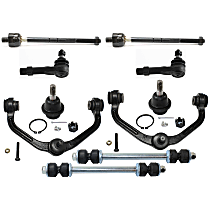 Replacement Control Arm, Ball Joint, Sway Bar Link and Tie Rod End Kit
