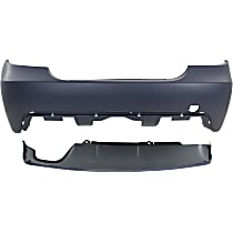 Bumper Cover - Rear, Kit, Primed, For Models With M Package and Without Park Distance Control, Without Trailer Hitch, Includes Rear Valance, With Tow Hook Hole