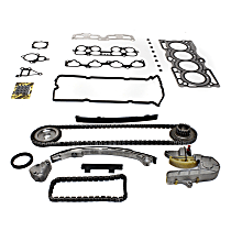 Timing Chain Kit - 4 Cylinder, 2.5 Liter Engine, With Sprocket (Gear), With Head Gasket Set