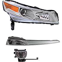 Replacement Headlight, Turn Signal Light and Fog Light Kit