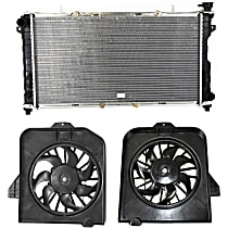Radiator, With Radiator and A/C Condenser Fan Shrouds