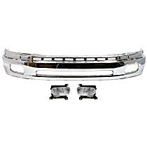 Bumper - Front, Chrome, Steel Type, with Fog Lights
