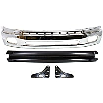 Bumper - Front, Chrome, Steel Type, with Bumper Brackets and Bumper Reinforcement