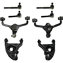 Control Arm - Front, Driver and Passenger Side, Upper and Lower, For Models without Police and Taxi Package, with Inner and Outer Tie Rod Ends