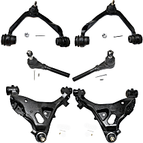 Control Arm - Front, Driver and Passenger Side, Upper and Lower, 4WD, with Outer Tie Rod Ends