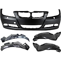 Fender Liner - Front, Driver and Passenger Side, Front and Rear Section, Sedan/Wagon, without M-Sport Package, with Front Bumper Cover (without Park Distance Control and with Headlight Washers)