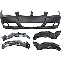 Fender Liner - Front, Driver and Passenger Side, Front and Rear Section, Sedan/Wagon, without M-Sport Package, with Front Bumper Cover (without Park Distance Control and Headlight Washers)
