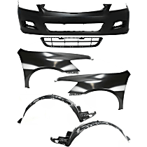 Replacement Bumper Cover, Grille Assembly, Fender and Fender Liner Kit