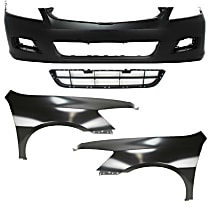 Replacement Bumper Cover, Grille Assembly and Fender Kit