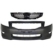 Grille Assembly - Textured Black Shell and Insert, with Front Bumper Cover