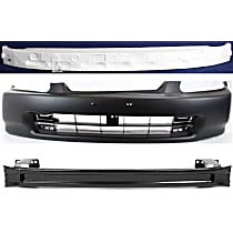Replacement Bumper Reinforcement, Bumper Cover and Bumper Absorber Kit - Front, OE Replacement
