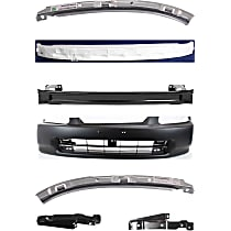 Bumper Cover, Bumper Reinforcement, Bumper Absorber and Bumper Bracket Kit - Without fog light holes