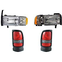 Replacement Tail Light and Headlight Kit - Driver and Passenger Side, DOT/SAE Compliant