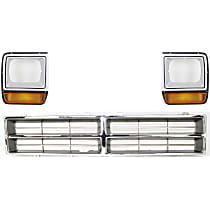 Grille Insert - Chrome, with Right and Left Headlight Doors